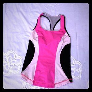 LuluLemon Pink And Black Racerback Top